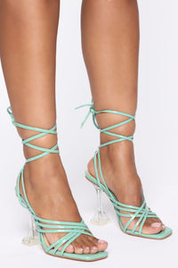 Be That Way Heeled Sandal - Mint