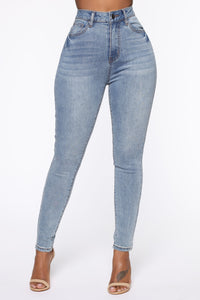 Save The Turtles High Rise Skinny Jeans - Light Wash
