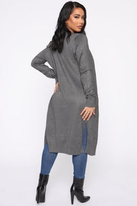 Sweet Nothings Cardigan - Charcoal