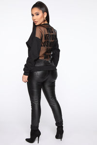 Bucket List Sweatshirt - Black