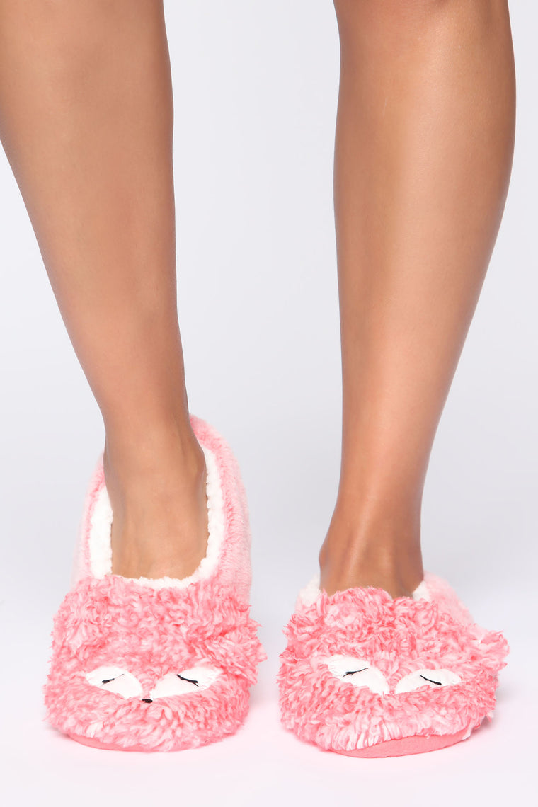 Fox Slippers - Pink