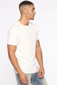 Essential Pigment Wash Short Sleeve Tee - White Angle 4