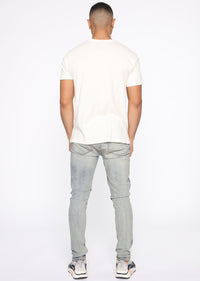 Essential Pigment Wash Short Sleeve Tee - White Angle 5