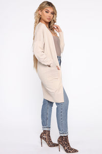 Always Pretty Cardigan - Oatmeal