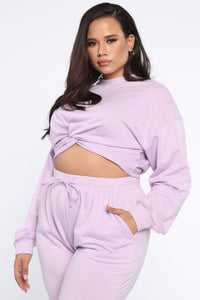 My Love Is Your Love Pullover - Lavender Angle 8