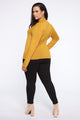 Lovin' On You Mock Neck Top - Mustard