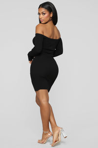 Simple Kind Of Love Sweater Dress - Black