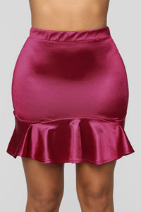 Together Or Apart Flounce Skirt - Fuchsia Angle 3
