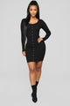 Trissy Sweater Dress - Black