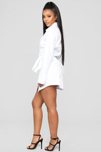 Friendship Ties Shirt Dress - White Angle 3
