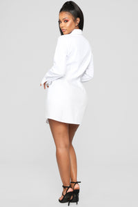 Friendship Ties Shirt Dress - White Angle 4