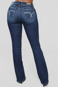 Valerie Boot Cut Jeans - Dark Denim