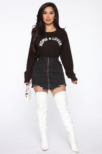 Homie And Lover Tunic Top - Black/combo Angle 2