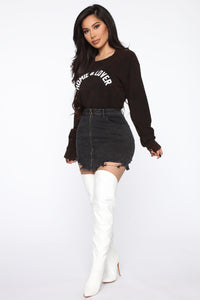 Homie And Lover Tunic Top - Black/combo Angle 4