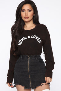 Homie And Lover Tunic Top - Black/combo Angle 1