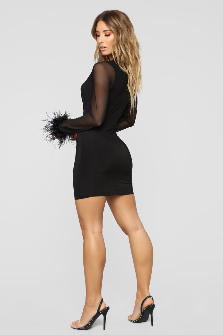 I Like Dollars Mini Dress - Black
