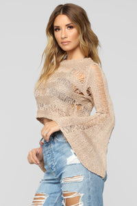 Done Too Much Sweater - Taupe