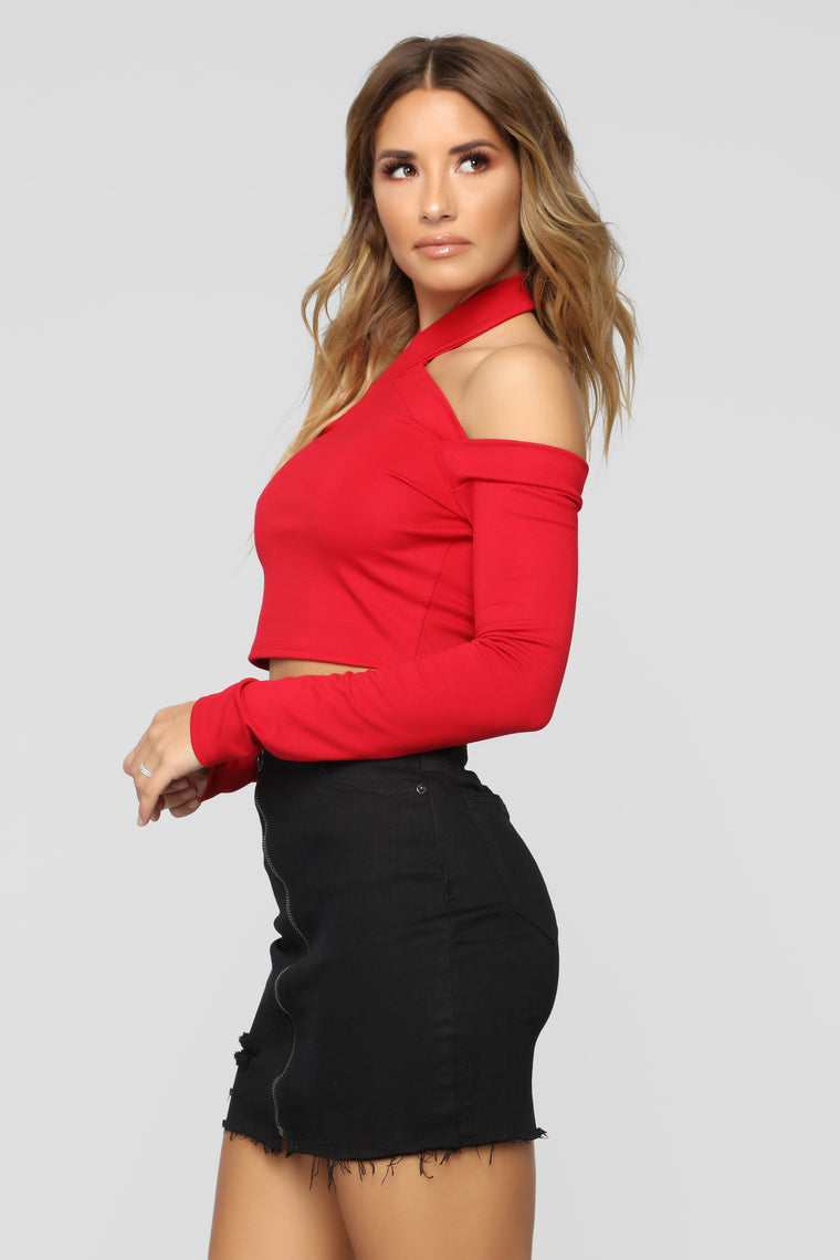 Back Up Plan Halter Top - Red