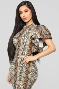Hisss One And Only Mini Dress - Brown