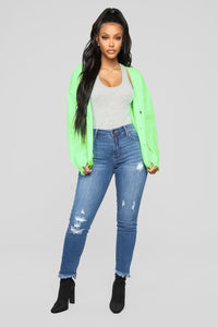 Need Attention Sweater - Neon Green Angle 2