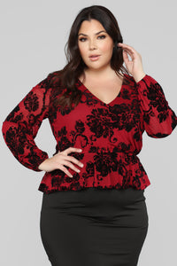 Love And Romance Top - Wine/Combo