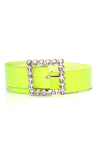 Made It Work Belt - Neon Green Angle 2