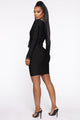 My Worth Is Known Embellished Dress - Black