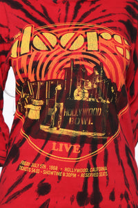 The Doors Hollywood Bowl Long Sleeve Top - Red/Black Angle 6