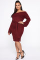 Hold You Down Mini Dress - Burgundy