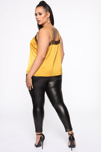 Call Her Baby Lace Cami Top - Mustard Angle 3