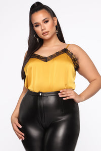 Call Her Baby Lace Cami Top - Mustard Angle 1