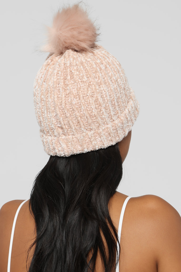 Winter Vibes Beanie - Blush