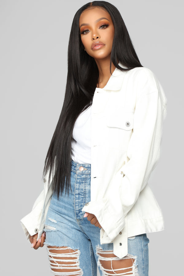 9a545bee37c Charged Up Denim Jacket - White