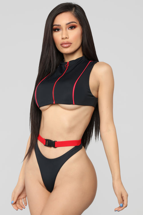 Wave Chaser Bikini - Black/Red