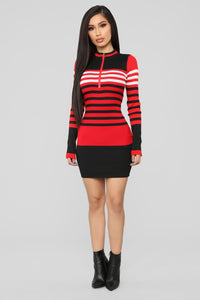 Everything I Am Sweater Midi Dress - Red
