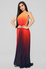 Sunset Ombre Dress   Orange Ombre by Fashion Nova