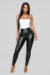 Lets Ride Moto Faux Leather Leggings   Black by Fashion Nova
