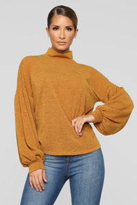 Classy And Bossy Top - Mustard
