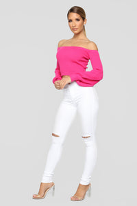 Mesmerized Sweater - Fuchsia