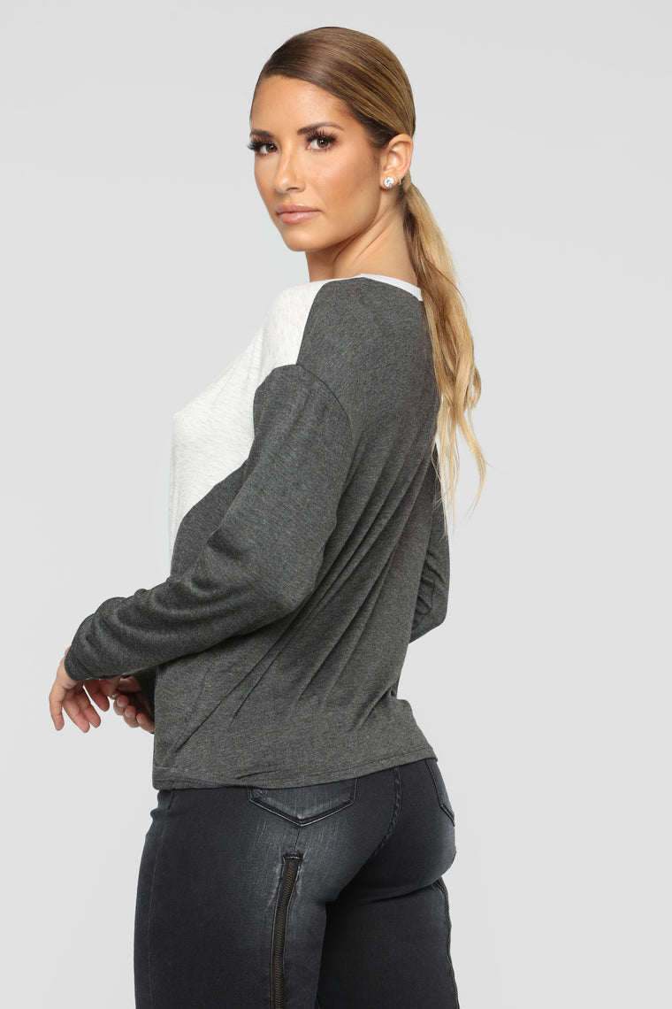 In My Mood Top - Charcoal/Combo