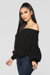 Addicted To Love Sweater - Black