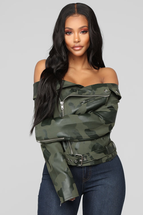 Woman In Charge Camo Jacket - Camo