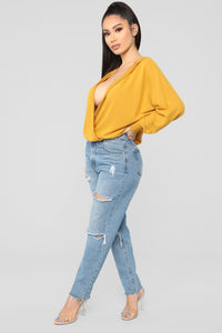 Stay Lovely Top - Mustard