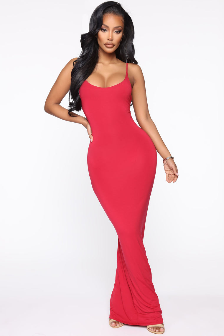 Ajay Maxi Dress   Red by Fashion Nova