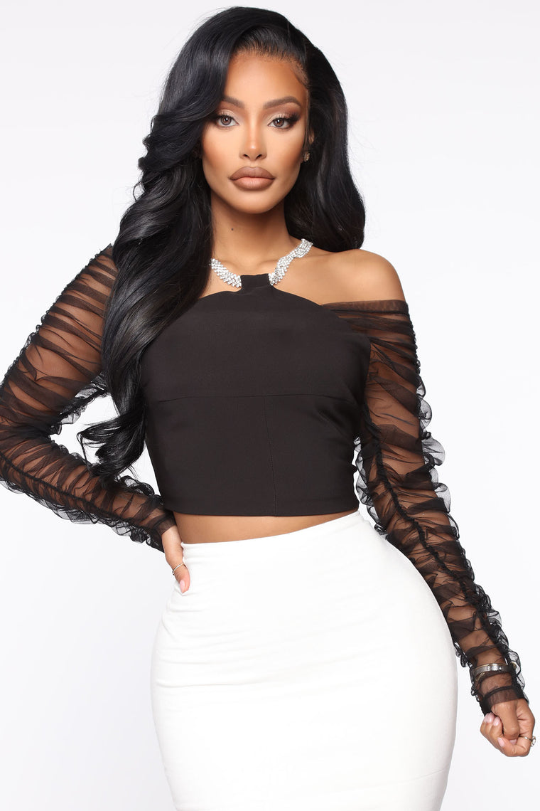 Make A Night Of It Top - Black