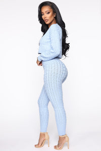 Sweater Sweetie Pant Set - Light Blue