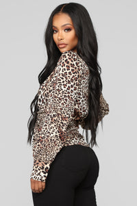 My Wild Side Cheetah Print Top - Cheetah Brown