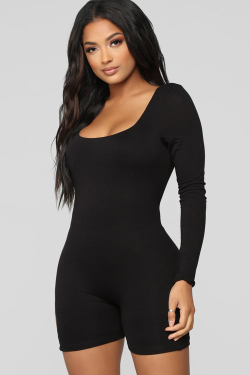 Back To The Basics Romper - Black