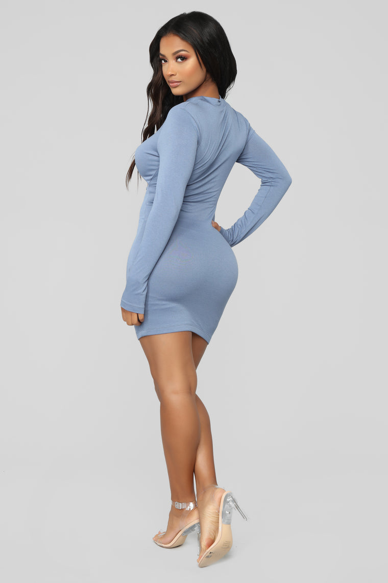 Issa Party Mini Dress - Blue