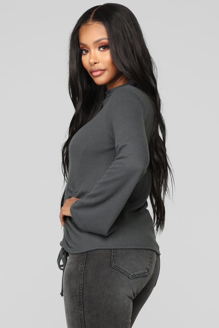 Innocent Side Top - Charcoal